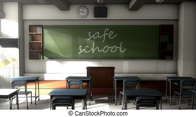 "texte, ""classroom, school."", planche, sûr, noir"