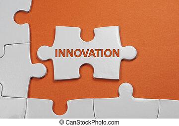 texte, concept, -, direction, innovateur