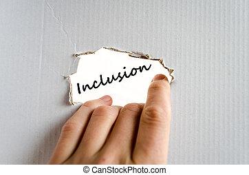 texte, concept, inclusion