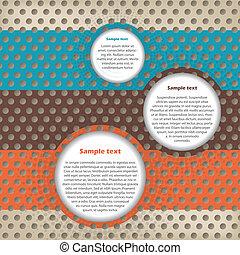 texte, conception abstraite, récipients, fond
