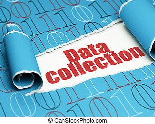 texte, déchiré, collection, papier, rouges, sous, morceau, données, concept: