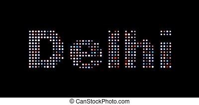 texte, delhi, mené