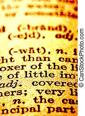 texte, dictionnaire
