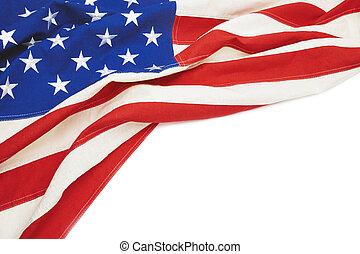 texte, drapeau, endroit, ton, usa