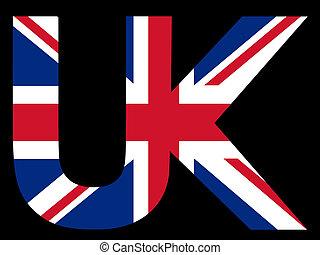 texte, drapeau, royaume-uni