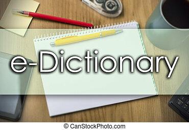 texte, e-dictionary, concept, -, business