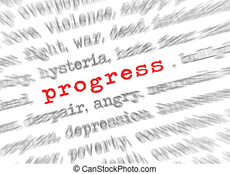 texte, effet, foyer, blured, progrès, zoom