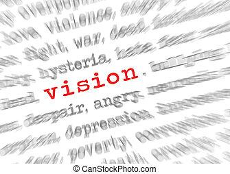 texte, effet, foyer, blured, vision, zoom