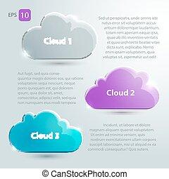 texte, ensemble, nuages, endroit, verre