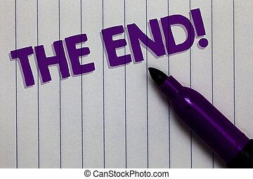 texte, fin, papier, quelque chose, marqueur, fin, idées, stylo, noir, photo, conceptuel, blanc, call., shadow., conclusion, vie, projection, motivation, bloc-notes, important, signe, pensées, temps