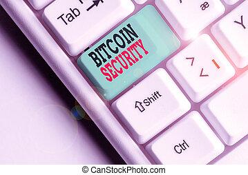 texte, fonds, system., verrouillé, cryptography, conceptuel,...