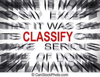 texte, foyer, blured, classifier