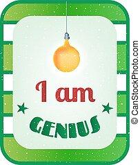 texte, génie, vert, blanc, rayé, carte
