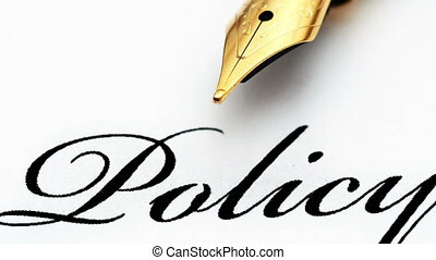 texte, haut, stylo, fontaine, fin, politique