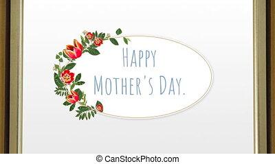 texte, heureux, jour, mère