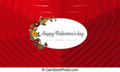texte, heureux, jour, valentine, cœurs, fond