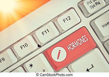 texte, hormones., écriture, produit, signification, ...