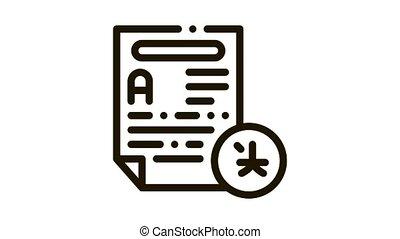 texte, icône, traduction, fichier, animation