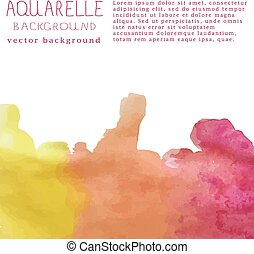 texte, illustration, aquarelle, vecteur, fond, signature