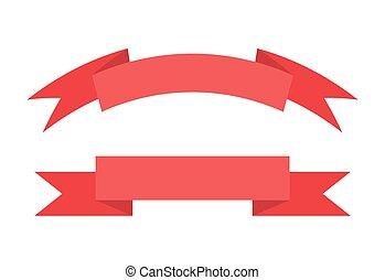 texte, illustration, vecteur, endroit, ruban rouge