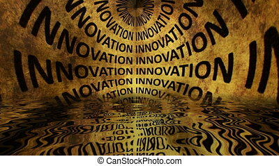 texte, innovation, eau, reflété