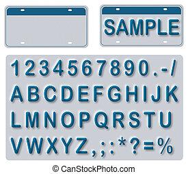 texte, leerer teller, lizenz, editable