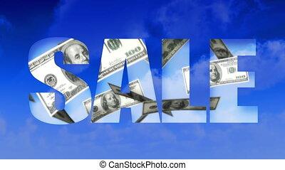 texte, (loop), argent, vente, sky-usd