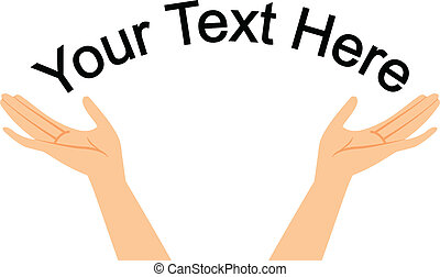 texte, mains, ton, espace
