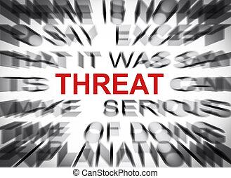 texte, menace, foyer, blured