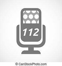 texte, mic, isolé, 112