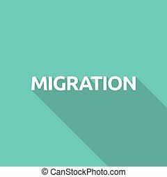 texte, migration, illustration