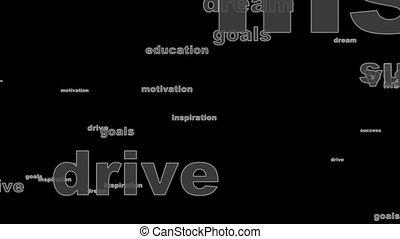 texte, motivation, juste, mots, boucle