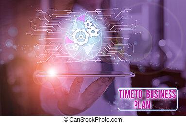 texte, organiser, travail, horaire, concept affaires, signification, temps, plan., commercialisation, product., écriture