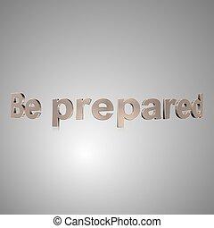 texte, préparé, 3d, être