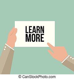 texte, projection, papier, apprendre, homme, plus