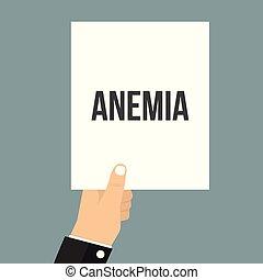 texte, projection, papier, homme, anémie