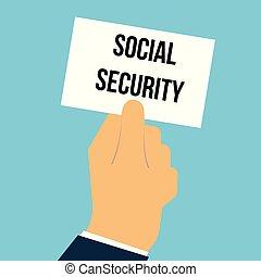 texte, projection, papier, sécurité sociale, homme
