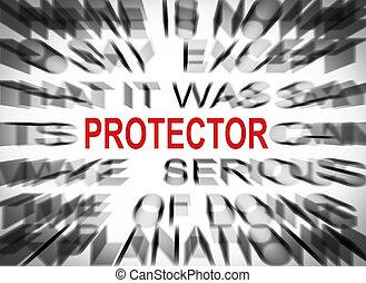 texte, protecteur, foyer, blured