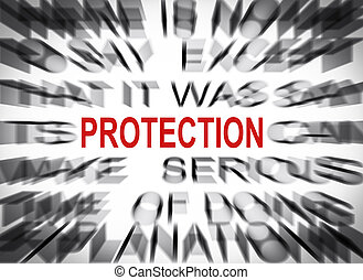 texte, protection, foyer, blured