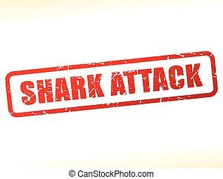 texte, requin, attaque, buffered
