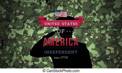 texte, scénario, silhouette, camouflage, contre, américain, ...