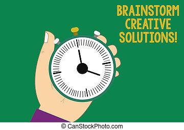 texte, signe, analyse, discussion groupe, créatif, intensif, début, tenue, photo, conceptuel, idée génie, arrêt, projection, montre, main, hu, indépendant, button., minuteur, solutions., mécanique
