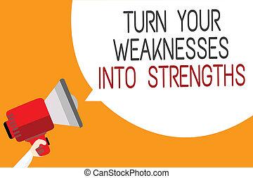 texte, signe, défauts, message, ton, haut-parleur, arrière-plan., strengths., parole, tenue, photo, orange, porte voix, bulle, les, raid, obtenir, projection, faiblesses, conceptuel, homme, travail, virage