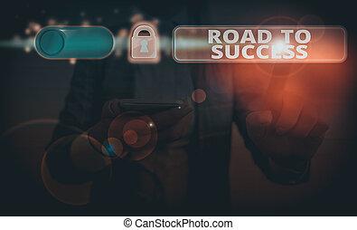 texte, signe, projection, success., wishes., route, conceptuel, étudier, really, photo, améliorer, rêves, vous-même, dur, portée