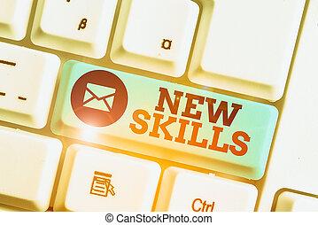 texte, skills., récemment, acquired, business, écriture, ...