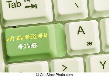 texte, solutions, conceptuel, où, question, space., photo, comment, fond, clã©, trouver, copie, clavier, when., questions, note, pourquoi, blanc, vide, papier, au-dessus, projection, quel, pc, signe, demander