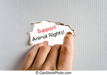 texte, soutien, concept, droits animaux