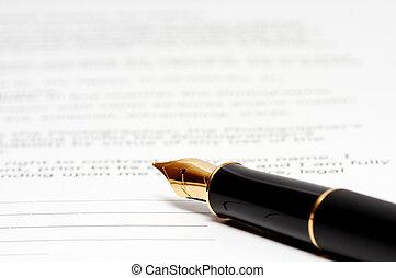 texte, stylo, papier, encre