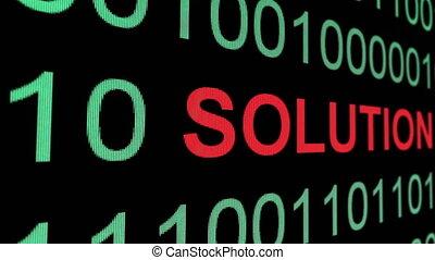 texte, sur, données, solution, binaire