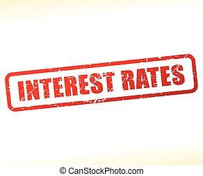 texte, taux, intérêt, buffered
